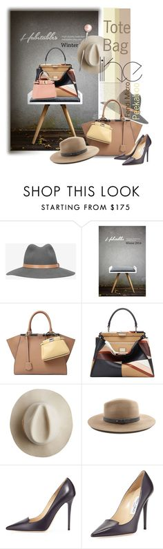 """Tote Bags"" by betiboop8 ❤ liked on Polyvore featuring rag & bone, Fendi, Artesano, Jimmy Choo, women's clothing, women's fashion, women, female, woman and misses"