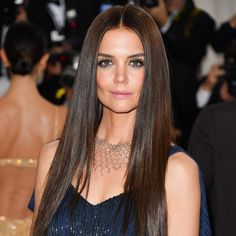 See all of the cutting-edge beauty looks on the biggest stars at the 2016 Met Gala on Monday, May 2016 in New York Evening Hairstyles, Wedding Hairstyles, Cool Hairstyles, Men's Hairstyle, Formal Hairstyles, Katie Holmes, Hailey Baldwin, Chelsea Houska Hair, Brunette Actresses