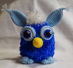 Make your own Furby...the pattern is a free Ravelry download.