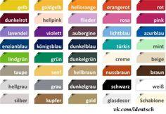 Die farben auf Deutsch - The colors in German. Study German, Learn German, German Grammar, German Words, German Language Learning, Learn A New Language, German Resources, Deutsch Language, British English