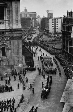 Churchill's funeral, London 1965. My father and I were there