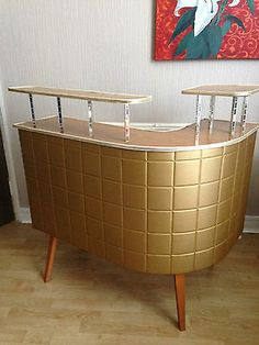 50s 60s Retro Vintage Cocktail drinks Home Bar Cabinet Unit Atomic Del Boy Era