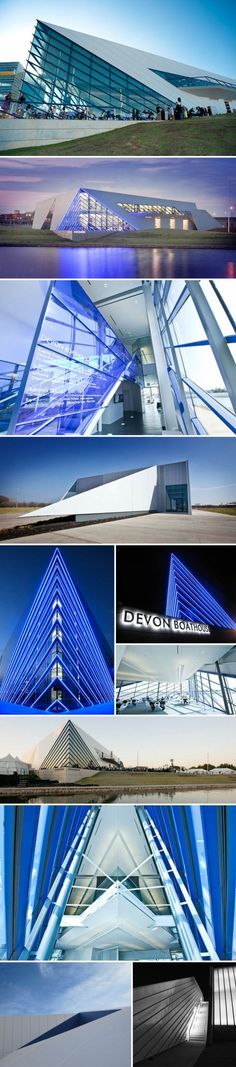 The Devon Boathouse. Oklahoma City Boathouse District. Photos via Elliott + Associates, Michael Stano, Ryan Fogle, Timberlake Construction, Allied Arts, and Boathouse District