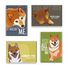 Shiba Inu Magnet Set I - Shiba Inu Magnets