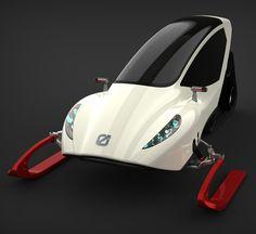 Snowmobile, electric vehicle, Michal Bonikowski, future vehicle, concept, futuristic vehicle, all-terrain vehicle, ev, futuristic transportation, futuristic design, futuristic concept, snow
