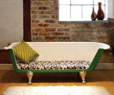 Reuse various items from your home & office. I love this bathtub coach!!!