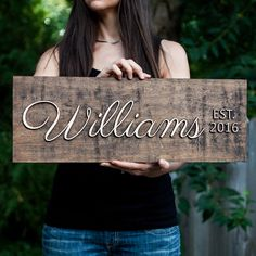 Personalized Sign,Outdoor Decor,Front Porch decor,Last Name Sign, Gift Ideas, Rustic, Handmade Sign, Wedding Gifts GiftedOccasion.com