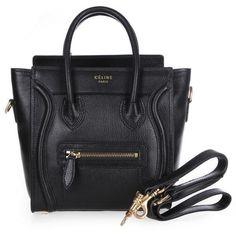 Celine Nano Mini Boston Handbag 26915 $230.00 ❤ liked on Polyvore featuring bags, handbags, purses, western handbags, hand bags, leather handbags, celine handbags and mini handbags