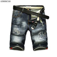 >> Click to Buy << AIRGRACIAS Shorts Men Ripped Short Jeans Straight Retro Shorts Jean Bermuda Male Denim Brand Clothing Plus Size 28-40  #Affiliate