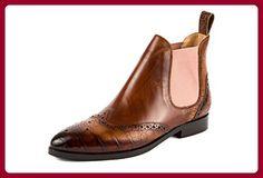 MELVIN & HAMILTON Damen Jessy 4 Chelsea Boots Stiefeletten Braun Gr. 37 - 38 - Schnürhalbschuhe für frauen (*Partner-Link)
