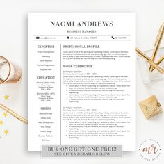 Professional Resume Template CV Template for MS by modishresumes
