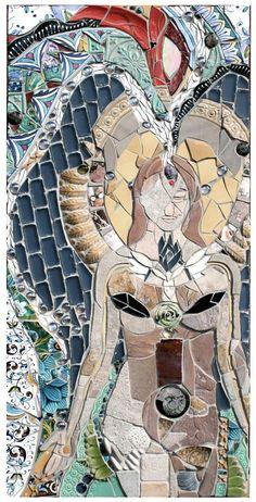 attractive mosaic design  #mosaic