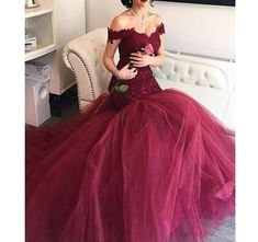 Sound of blossoming Off Shoulder Lace Mermaid Prom Dresses Long 2018 Tulle Formal Evening Party Gown191 >>> Read more at the image link. (This is an affiliate link) #QuinceaneraDresses