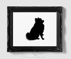 Pomeranian Silhouette Handcut Original by silhouetteMYpet on Etsy, $18.00