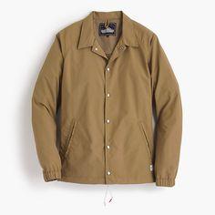 Some people complain about bad weather, but New England-based Penfield fights back. This soft-shouldered snap-front coach's jacket is inspired by classic styles used to keep coaches and players warm during sports games. <ul><li>Nylon.</li><li>Standing collar.</li><li>Button closure.</li><li>Waist pockets.</li><li>Lined.</li><li>Machine wash.</li><li>Import.</li><li>Online only.</li></ul>