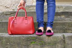 ballerine pon pon - red bag made in italy