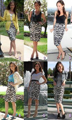 ttf - zebra skirt 6 ways