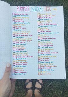 summer goals list bullet journal - summer bucket l - summergoals Summer Bucket List For Teens, Summer Fun List, Summer Goals, Summer Ideas, Teen Bucket List, Summer Art, Senior Bucket List, College Bucket List, Summer Plan
