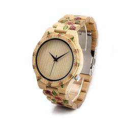 Flowers for Love ... - Great new product just listed on IsMENS website.  What do you think?  http://ismens.com/products/flowers-for-love-wood-watch?utm_campaign=social_autopilot&utm_source=pin&utm_medium=pin