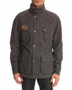 Summer Rally grey parka  HACKETT