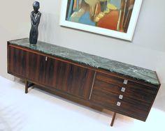 Robert Heritage rosewood & marble sideboard. British 1960's. www.midcenturyhome.co.uk