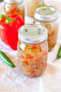 Canning Recipe for Hot Pepper Jelly. The red and green will be festive come Christmas, when my cheap self gifts these :)
