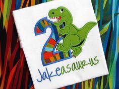 DINOSAUR BIRTHDAY SHIRT Personalized Shirt  Dinosaur by cuteasme