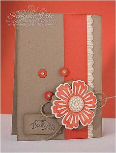 SU Mixed Bunch Bold And Baked Brown Sugar Handmade Birthday Cards