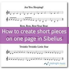 Tutorial video: How to create short pieces on a single page in Sibelius