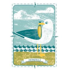 Image of Seagull Limited Edition Screen Print