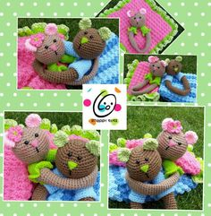 Crochet Teddy Bear Loveys - Picture Idea