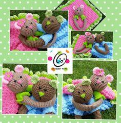 Crochet Teddy Bear Loveys - Picture Idea