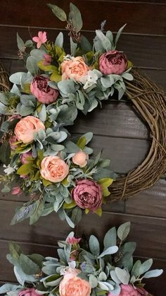 Our mixed peony wreaths create a beautiful welcome on your door. Available in half or full versions. Diy Spring Wreath, Spring Door Wreaths, Easter Wreaths, Wreaths For Front Door, Holiday Wreaths, Mesh Wreaths, Front Porch, Floral Wreaths, Burlap Wreaths