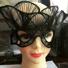 By Erica Gray - #lace #mask made with flexy filament utilising a #3Doodler