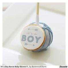 It's a Boy Arrow Baby Shower Favor Cake Pops