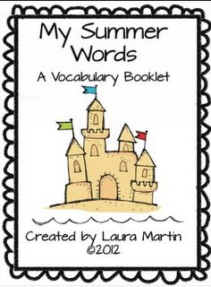 Free Summer Vocabulary Booklet