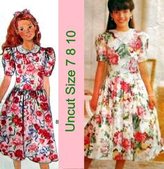 Butterick 6014 Pattern Girls Dress Size 7 8 10 Uncut Expo