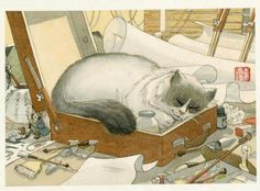 Cats in Art and Illustration: Frederic Saurel