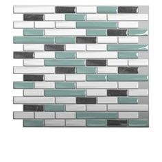 Smart Tiles 9.13 in. x 10.25 in. Muretto Brina Mosaic Decorative Wall Tile (6-Pack)-SM1041-6 at The Home Depot