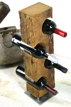 reclaimed barn wood wine bottle holder with industrial steel base free standing wine rack table cen