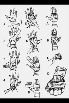 How to correctly wrap hands before fights. Angles will help me draw people punching or taping their fists before a fight.