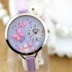 Pure Butterfly #PU #Leather #Watch - Fashion9shop.com