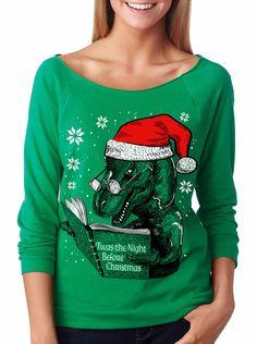 dino reading dinosaur christmasugly christmas sweater - Dinosaur Christmas Sweater