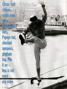 Vogue Australia August 1988 Paris sums it up Model: Angie Hill; Unknowns Ph: Ellen Von Unwerth