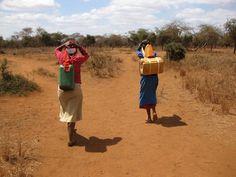 [Massai Gemeinschaft]: Wenn die Esel gerade noch irgendwo im Busch grasen, muss man die Kanister auch mal selbst tragen, was ganz schön anstrengend sein kann...  SOCIALTOURIST - Urlaub mit sozialer Verantwortung - Kenia - Kenya