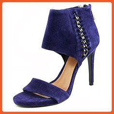 Vince Camuto Womens Freya High Heel Sandals Blue Suede 8.5m - Sandals for women (*Amazon Partner-Link)