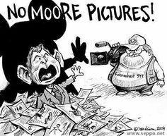 """""""No Moore Pictures"""",  George W. Bush, Michael Moore, Fahrenheit 911, Abuse Pictures Scandal"""