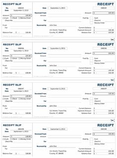 Cash Receipt Template  Bills Invoices And Receipts