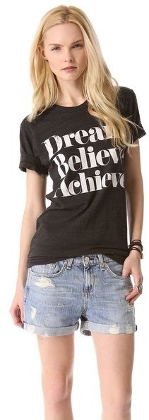 Sincerely Jules Dream Believe Achieve Tee on shopstyle.com