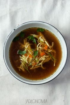 Vegeterian version of traditional Polish Rosol Soup Soup Recipes, Diet Recipes, Healthy Recipes, Vegetarian Chicken, Vegetarian Recipes, Chicken Soup, Good Food, Yummy Food, Vegan Soups